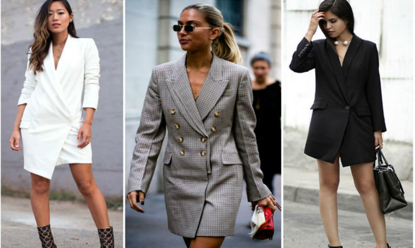 Модное женское платье-пиджак