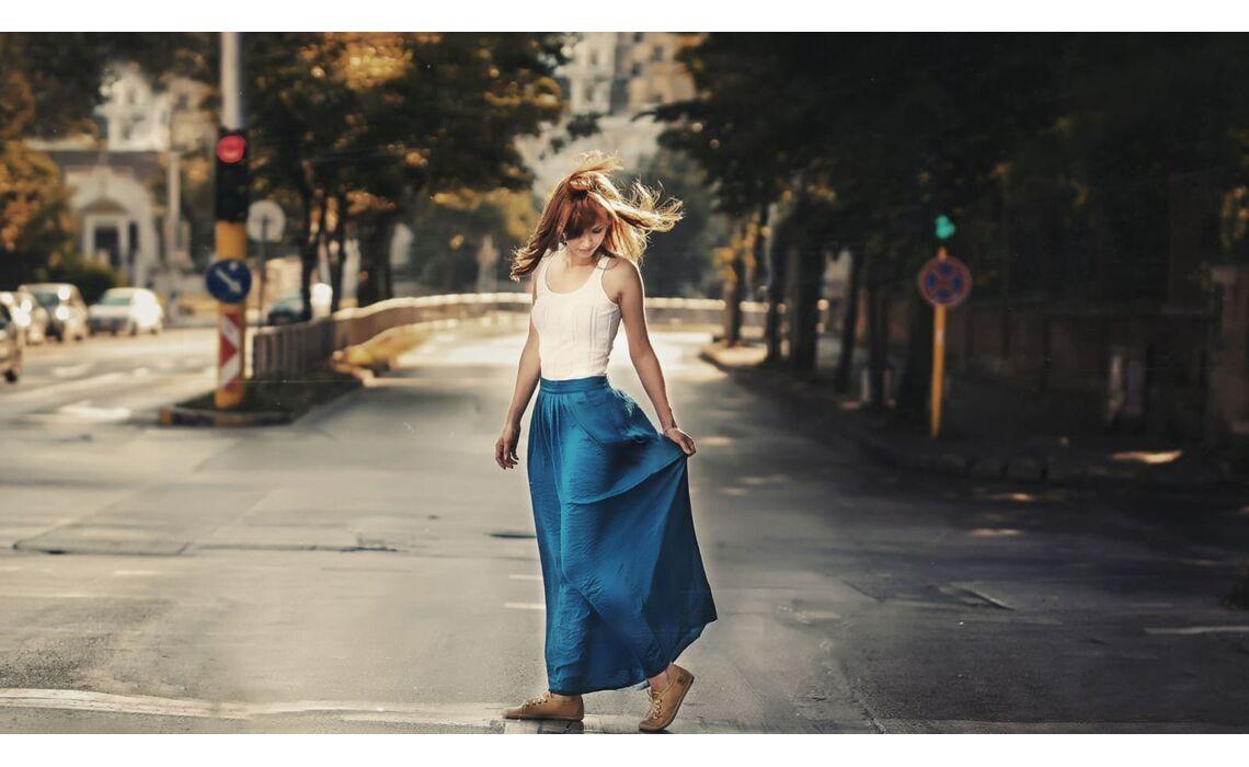 Юбки макси или длинные юбки