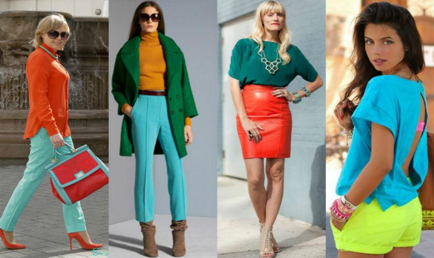 Как правильно сочетать цвета в женской одежде?